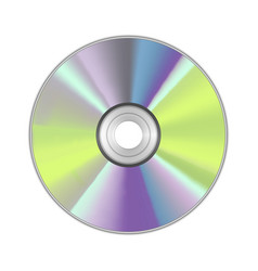 Realistic detailed round cd disk vector