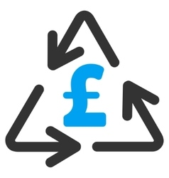 Recycling Pound Cost Flat Icon Symbol vector image