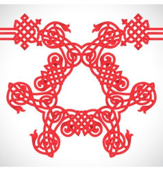 Red native ornament vector