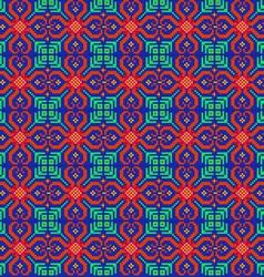 Seamless mosaic of geometric ornamen vector