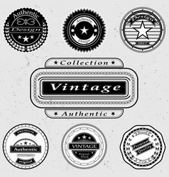 Set of vintage logos vector