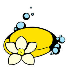 Shell and flower icon icon cartoon vector