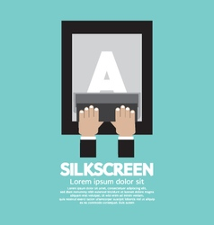 Silkscreening with squeegee vector