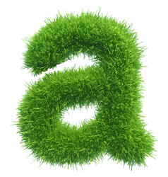 Small grass letter a on white background vector