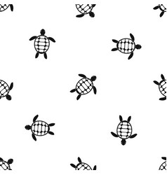 Turtle pattern seamless black vector
