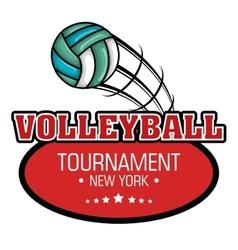 Volleyball sport ball emblem vector