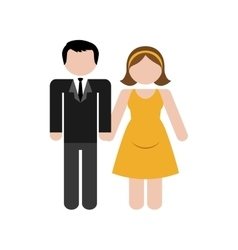 Couple man and woman icon image vector