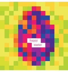 happy easter pixels vector image