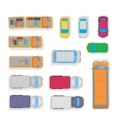 Transport automobile parking on white background vector
