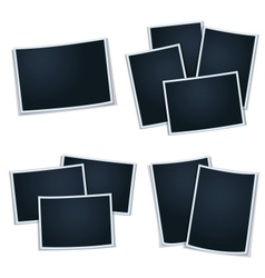 Set of photos frames for your picture vector
