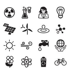 save world icon set vector image