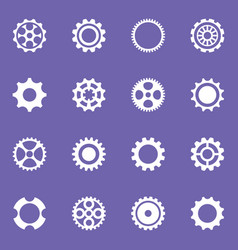 Simple cog wheels and gears vector
