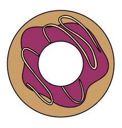 Delicious donut isolated icon vector