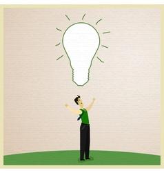 Businessman and Idea vector image