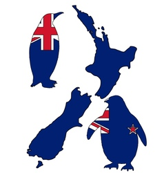 Penguin new zealand vector