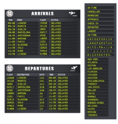 Flight information set 1 delayed vector