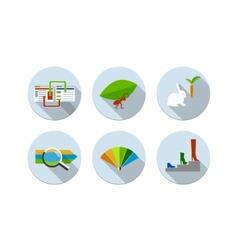 Flat design modern icons set vector