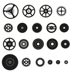 Various cogwheels parts of watch movement eps10 vector