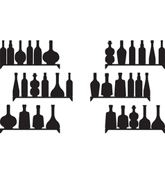 Shelves with booze vector image