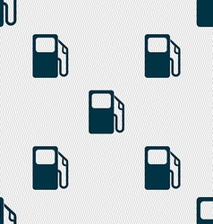 Auto gas station icon sign seamless pattern with vector