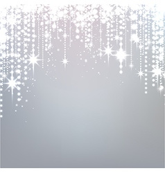 Silver starry christmas background vector