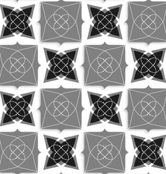 Geometrical ornament with slim wire black and gray vector