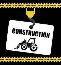 Construction machinary design vector