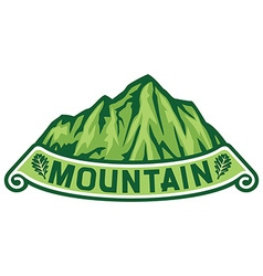 Mountain label vector