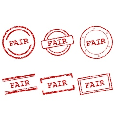 Fair stamps vector