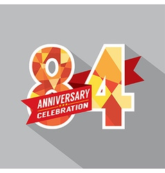 84th years anniversary celebration design vector
