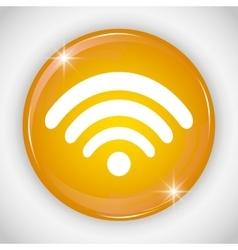 Wifi button icon social media design vector