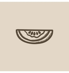 Melon sketch icon vector