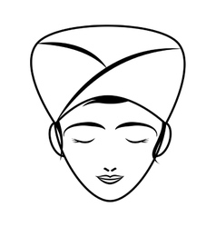 Woman cartoon icon spa center design vector
