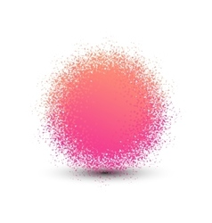 Abstract pink fluffy isolated sphere with shadow vector image