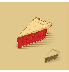 American cherry pie vector
