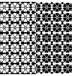 Black lace texture on white seamless pattern vector
