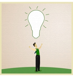 Businessman and Idea vector image