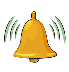 Cartoon image of notification icon bell symbol vector