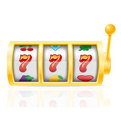 casino slot machine stock vector image