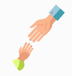 Charity symbol of helping hand icon vector