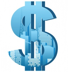 city dollar vector image vector image