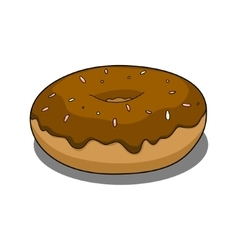 Donut with chocolate coating vector