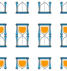 Hourglass Seamless pattern Flat color icon vector image