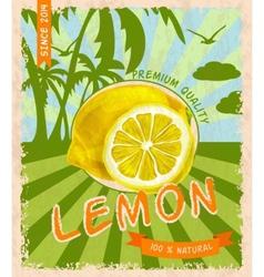 Lemon retro poster vector