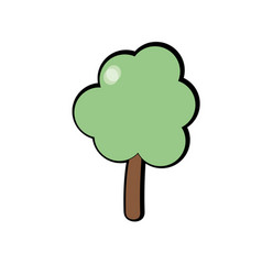 natural tree to ecology care icon vector image