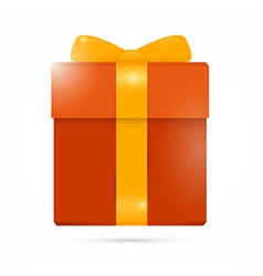 Orange Present Box Gift Box vector image