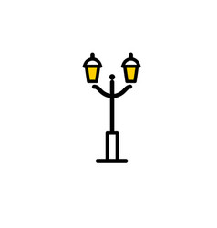 Outline streetlight icon isolated parks design vector