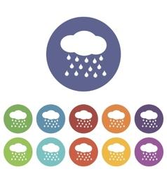 Rain flat icon vector