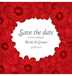 Save the date wedding invitation card template vector image