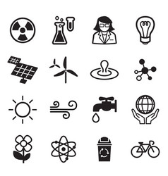 Save world icon set vector